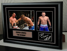 """CHUCK LIDDELL """"ICEMAN"""" Framed Canvas Signed  """"Great Gift"""""""