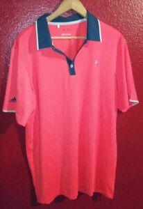 Adidas Men's Orange Golf Climalite Polo Size Medium