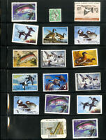US Selection Of 17 Wildlife Stamps