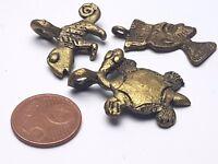 1 Stück Ashanti Ghana Messingperlen Akan brass beads lost wax process 20 mm