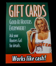 Vtg Hooters Sexy Girl in Uniform Gift Cards Promo Mini Poster