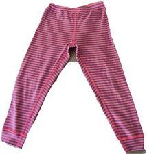 Hanna Andersson Stripe Leggings Size 110 5 Girls Pink Purple Blue Cotton Peru
