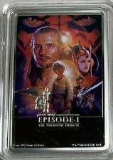2018 Niue  Star Wars Poster  The Phantom Menace 1oz Silver Proof Original Box