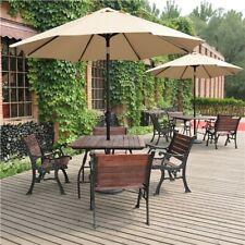 More details for garden parasol 2.6m patio umbrella market table umbrella w/ tilt & crank handle