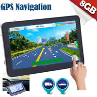 "5"" inch GPS SAT NAV Car Navigation System FM MP5 128MB 8GB AU EU US Free Maps"