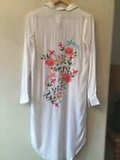 Charms Fashion Embroidered Dress/Coat, LF Store, White, XS