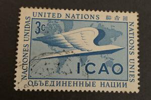 1955 United Nations International Civil Aviation Organization 3c Blue FU SG31