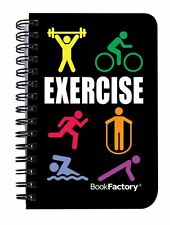 BookFactory® Exercise Journal / Mini Exercise Diary / Fitness Notebook /Exercise