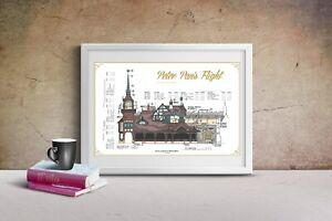 Disneyland - Peter Pan's Flight Attraction - Colored Blueprint