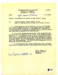 Paul Tibbets & Thomas Karnes Dual Signed Karnes Promotion Document BAS D87939