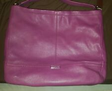 A Gorgeous Large COACH Park Purple Leather Hobo Shoulder Tote Bag