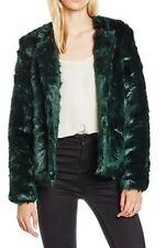 Yumi Women's Collarless Faux Fur Jacket UK14 RRP£95 (00129)