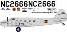 Phillips 66 Boeing 247 decals 4 Williams Brothers 1/72 scale