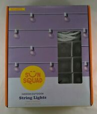 Sun Squad String Lights Indoor/Outdoor 20 Globe Lights Clear White Wire