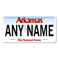 US Metal License Plate - Arkansas V2 - Customise your own plate