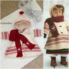 American Girl Doll KIRSTEN Winter Pastime SKATING WOOL COAT & SCARF/Jacket ~Rare