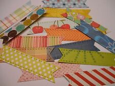Die Cut Cardstock Banners and Tabs Embellishments for Scrapbooking and Planners