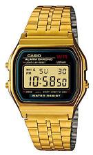 Casio A159WGEA-1 Men's Vintage Gold Tone Chrongoraph Alarm LCD Digital Watch