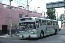 STE Mexico City Flyer Trolleybus Kodachrome original Kodak slide