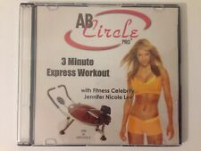 Ab Circle Pro 3 minute Workout Dvd with Fitness Celebrity Jennifer Nicole Lee