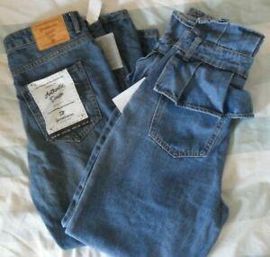 Womens New Lost Ink & Stradivarius Blue Jeans Trousers Bundle - Size UK 10