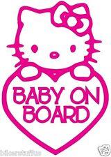 HELLO KITTY BABY ON BOARD BUMPER STICKER HELMET STICKER LAPTOP STICKER WINDOW