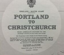 ADMIRALTY SEA CHART. No.2615. PORTLAND to CHRISTCHURCH. ENGLAND - W COAST.1954