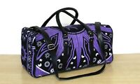 New Travel Sun Cotton Indian Duffel Handbag With Adjustable Strap Luggage Bag