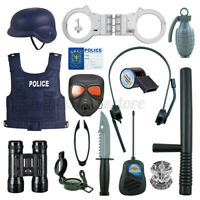 Police Cosplay Set Toys Kids Role Play Cop Simulation Boy Game Christmas Gift