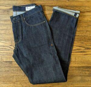 Imogene + willie men's Barton Slim indigo rigid Selvedge Denim Jeans Size 32