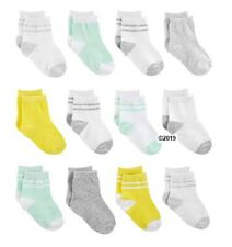 Simple Joys By Carters Baby Neutral 12-Pack Yellow/Gray/Mint Socks Size 6-12M