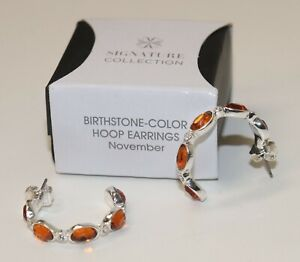 2016 Avon Signature Collection Birthstone Color Hoop Earrings November