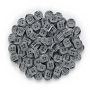 30 Stripe Resin Buttons Sewing Scrapbooking Handwork Home Cloth Gift Decor 13mm