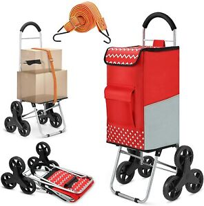 Shopping Trolley 2in1 Folding Shopping Cart Aluminium Handles Loading 75L/50kg