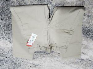 Boys Flat Front Stretch Uniform Straight Fit Pants - Cat & Jack Khaki Size 7