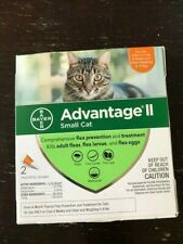 Bayer Advantage II Flea Prevention for small Cats 2 doses 5-9 lb New
