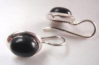 Black Onyx 925 Sterling Silver Wire Back Earrings Corona Sun Jewelry
