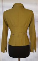 NEW Phoebe 6 Green Fitted Blazer Jacket Cinched Back Half Belt Double Stitched