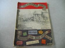 Vintage COUNTRY LIFE Magazine, JULY 1937, BATTLE OF NEWPORT YACHT RACING ARTICLE