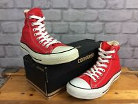 CONVERSE UK 7 EU 40 CHUCK TAYLOR ALL STAR HI RED TRAINERS MENS LADIES