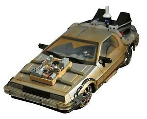NEW Diamond Select Back the Future 3 DeLorean Rail-Ready Time Machine 1:15 SFX