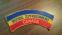 MILITARY SHOULDER FLASH TITLE PATCH ROYAL 22e REGIMENT CANADA