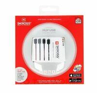 SKROSS World Adapter MUV USB, Weiß - geeignet für alle ungeerdeten Geräte...