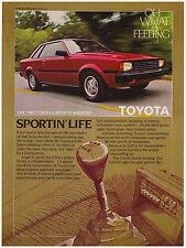 Original 1982 Toyota Corolla Sports Hardtop Print Ad Vintage