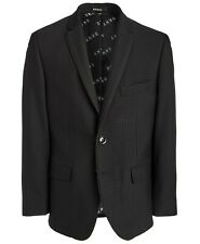 DKNY Big Boys Classic-Fit Stretch Black Houndstooth Sport Coat Size 14R