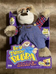 Vintage Real Talking Bubba Bear 1997 Animal Plush Toy TYCO (Factory Sealed)