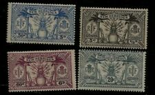 1925 British New Hebrides Native Idols and Spears Mint Stamps Denominated Twice