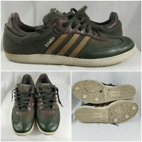 Adidas Samba Hemp Army Olive Green Leather Natural Rasta Homme Marron Size 12