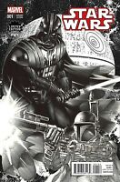 STAR WARS 1 VOL 2 LIMITED EDITION MIKE DEODATO DARTH VADER SKETCH B&W VARIANT