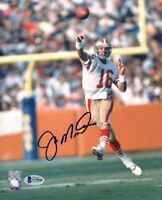 JOE MONTANA SIGNED AUTOGRAPHED 8x10 PHOTO SAN FRANCISCO 49ERS LEGEND BECKETT BAS
